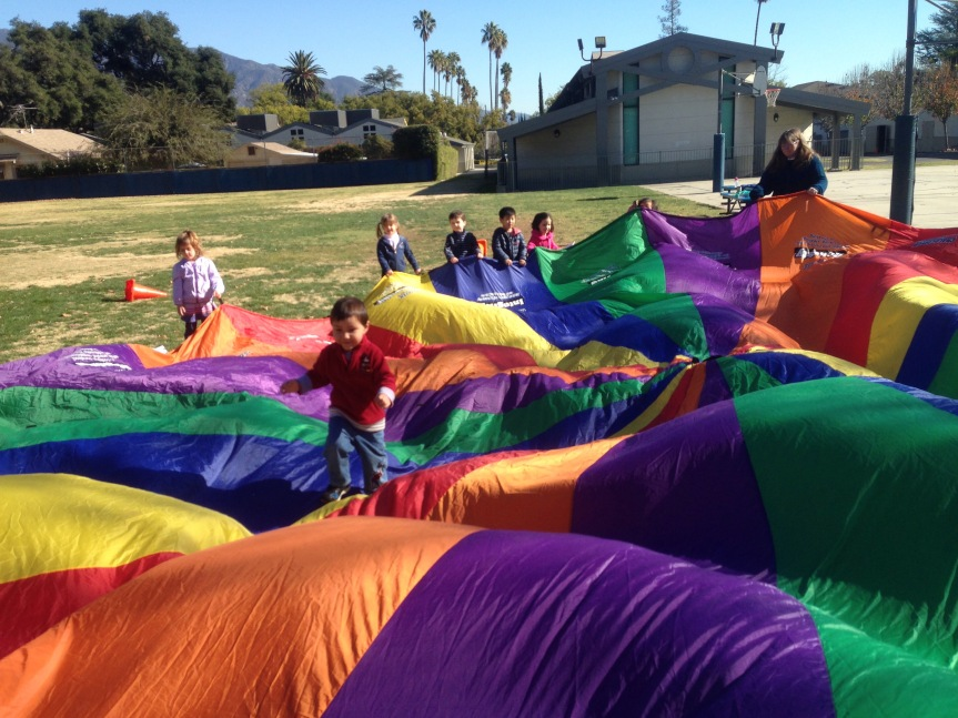 Jumping into Parachute Fun
