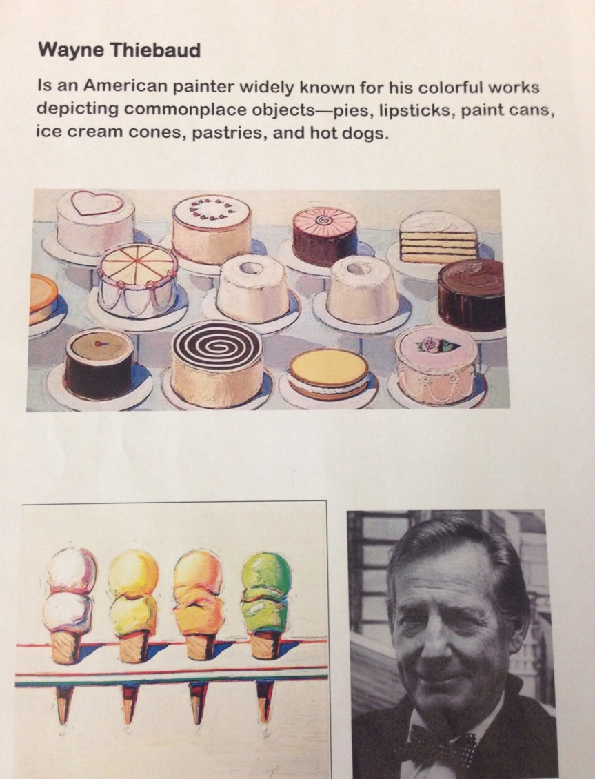 Wayne Thiebaud Creations in the Art Studio…