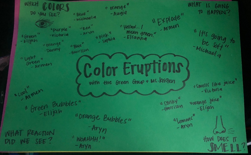 Color Eruptions in Room 3